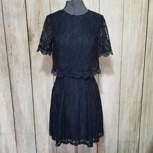 Asos Navy Lace Dress size 0